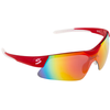 SPIUK GLASSES MAMBA RED/WHITE MIRROR RED