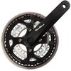 Crankstel SunRace FCM500 -2mm 24-34-42 170mm m/CG zw/zilv