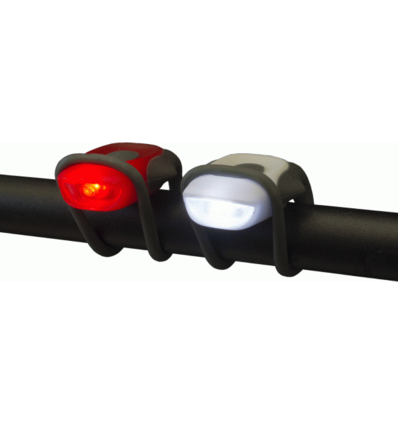 WOWOW W2 SET FIETSVERLICHTING LED ROOD EN WIT - INCL. BATTERIJEN