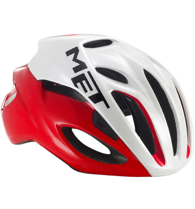 MET HELM RIVALE 54-58CM RED/WHITE