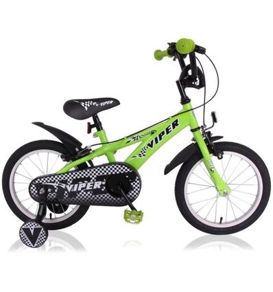 """Kinderfiets Viper 16"""" Groen"""