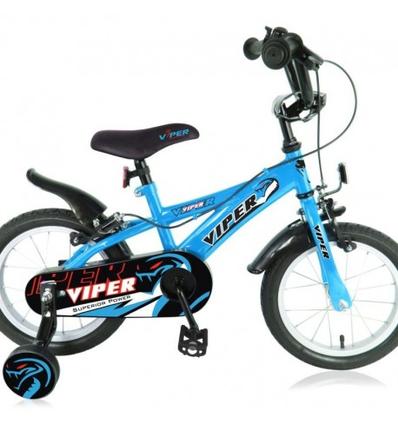 """Kinderfiets Viper 14"""" Blauw"""