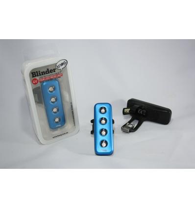 Knog Blinder 4V , Rode LED, Blauw