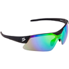 SPIUK GLASSES MAMBA BLACK/BLACK MIRROR GREEN